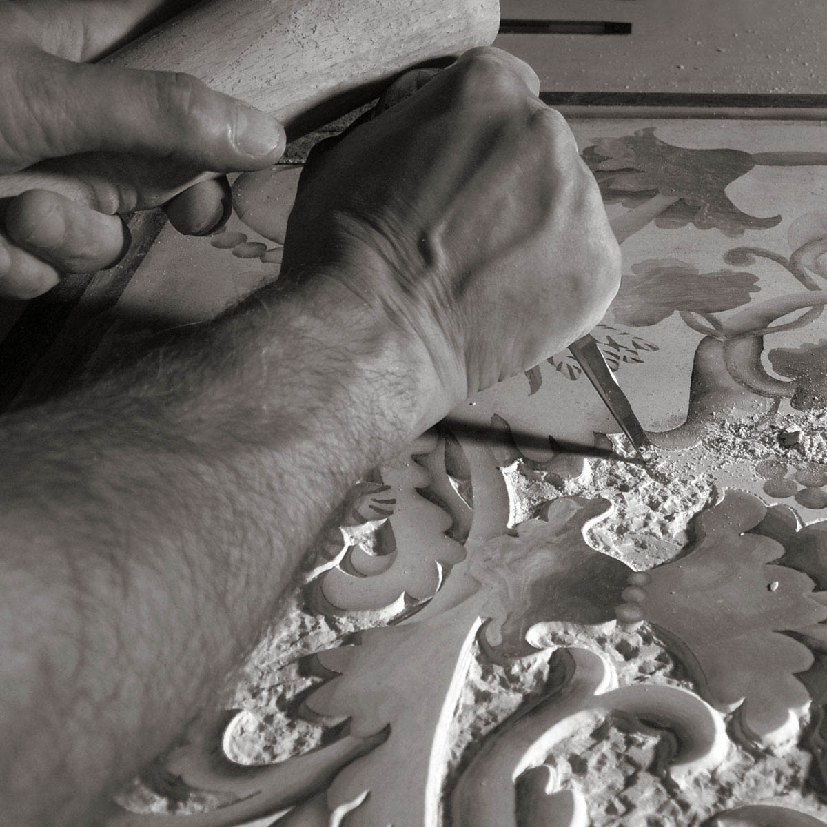 Manufacturing process of Scagliola